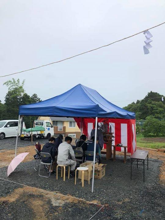 雨降って地固まる「地鎮祭」