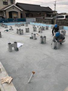 最新の住宅基礎「グリッドポスト」施工