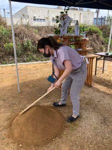 真心込めて地鎮祭「盛り砂